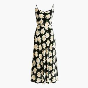 J. CREW COLLECTION ✨NWT✨ Black Velvet Floral Dress